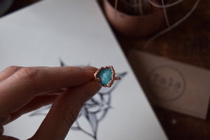 Aquamarine & Copper Sea Monster Ring