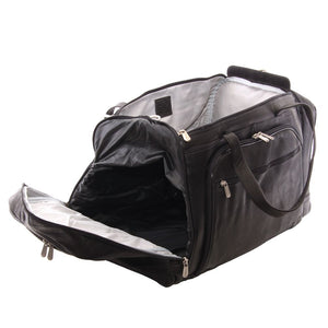 Piel - Genuine Leather Multi-Compartment Duffel Bag