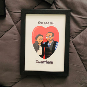 "Customized ""You are my Swantham"" Portrait"