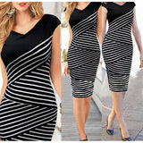 Geguistle Bodycon Pencil Office Party Dress