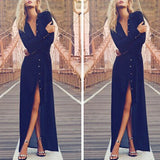 WJ Long Cardigan Blouse Women Maxi Dress