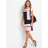 Ruiyige Daily Shift Women Dress Pacthwork Midi