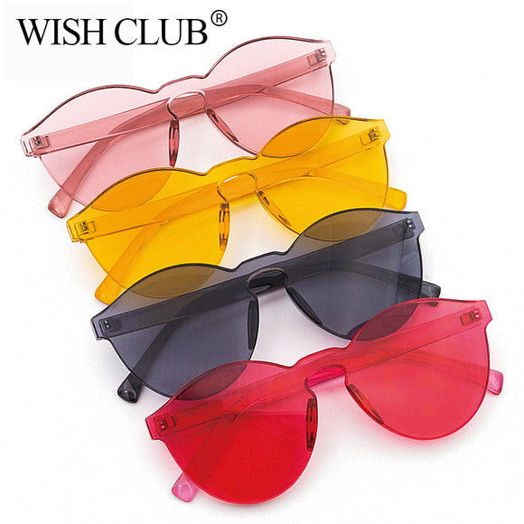 Unisex Candy Color Frame less Sunglasses