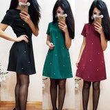 Short Sleeved Bodycon Women Mini Dress