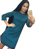 WJ Cross Plaid Print Women Dress
