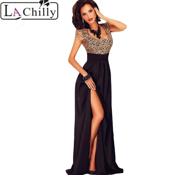 La Chilly Elegant Embroidery Women Dress