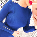 Warm Hip Sexy  Knitted Midi Women Dress