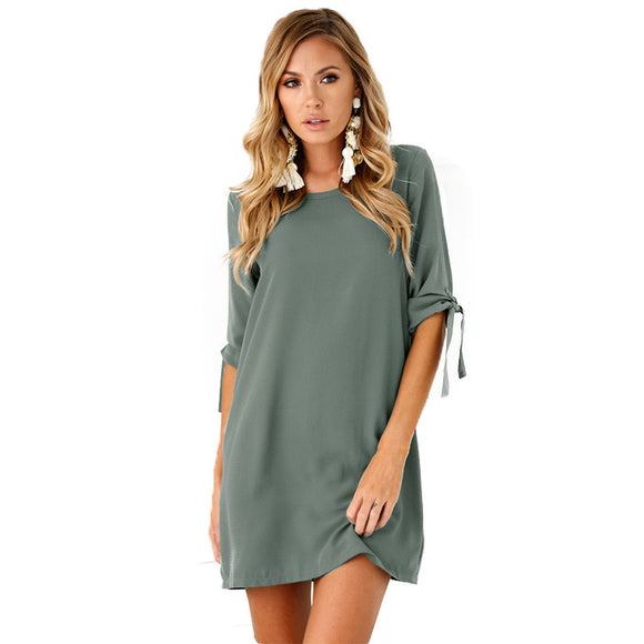 European Style Sexy Midi Woman Dress
