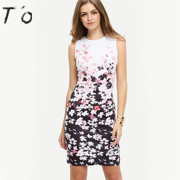 T'OFloral Sleeveless Women Dress