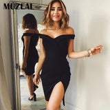 MUZEAL Off Shoulder Women Dress