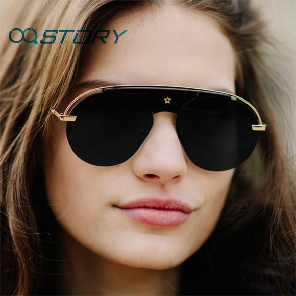 STORY Women Aviator Sunglasses UV400 Metal Frame