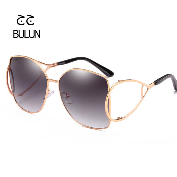BULUN Oversize Hollow Metal Women Sunglasses