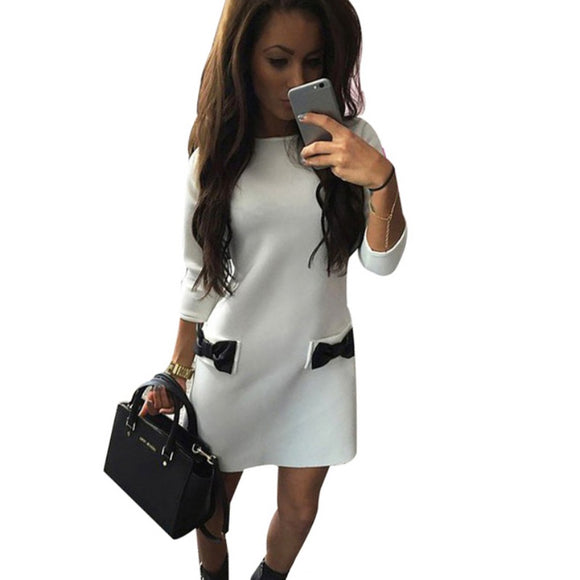 EF Women Bow Mini Dress