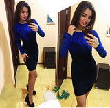 SIMIN Woman Mini Sexy Slim Dress