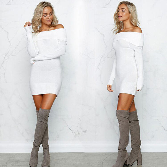 La Chilly Mini Dresses Strapless Sexy Solid Pullover