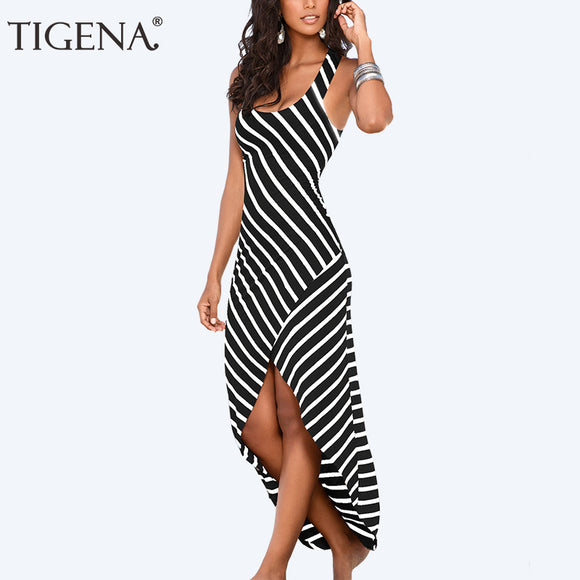TIGENA Boho Tunic Beach Women Dress