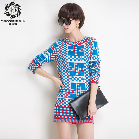 TAIYANGSHI Knitted Dress Sweater Women Dress