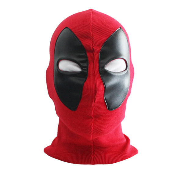 New Cool Marvel Superhero Deadpool Mask Breathable Fabric Faux Leather Full Face Mask Halloween Cosplay  Keep Warm Hat
