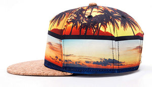 2017 New Summer Cap Cool Coconut tree desgin 3D fashion men's Baseball Cap women Beach hat caps wholesale