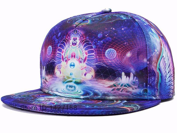 2017 Brands 3D Color Printing Buddha Men Women  Hat Hats Baseball Cap Fashion trends Hip Hop Snapback Caps bone free shipping