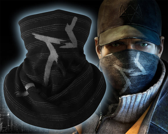 3D Stripes Black Watch Dogs Aiden Pearce Bicycle Winter Scarf Hat Warmer Combat Half Face Mask Snowboard Headwear Cap