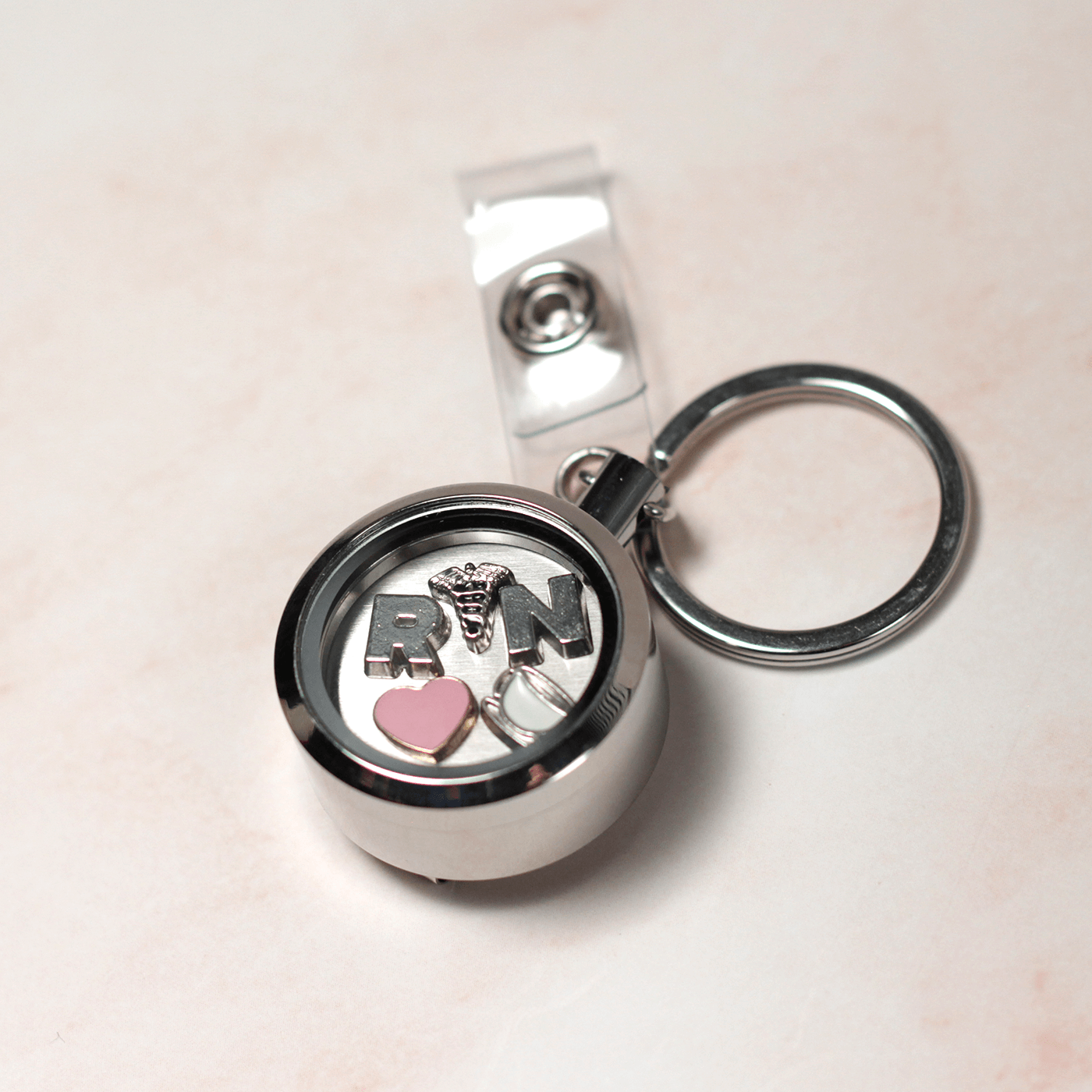 Floating Charm Badge Reel