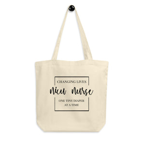 NICU Nurse Eco Tote Bag