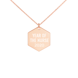 Year of the Nurse 2020 Engraved Necklace