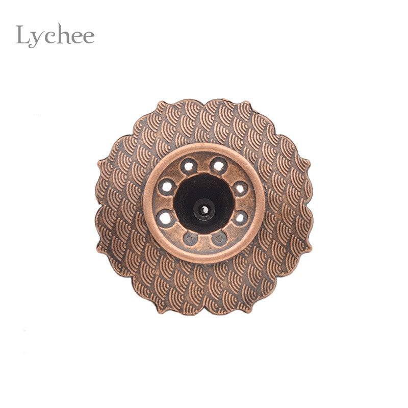 2 Pieces Lotus Flowers Pattern Incense Burner Stick Holder Incense Base Plug - Venim World Class