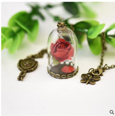 Terrarium Pendant His Beauty/Her Beast Valentines Day Fairy Tale Movie Victorian - Venim World Class