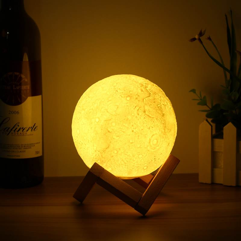 13CM Moonlight Night Light Lamp 3D Moon Lamp Color Changing USB - Venim World Class