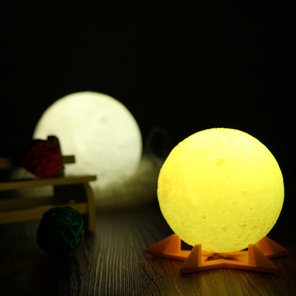 3D Magical Moon LED Night Light Moonlight Desk Lamp USB Rechargeable Support Remote Control - Venim World Class