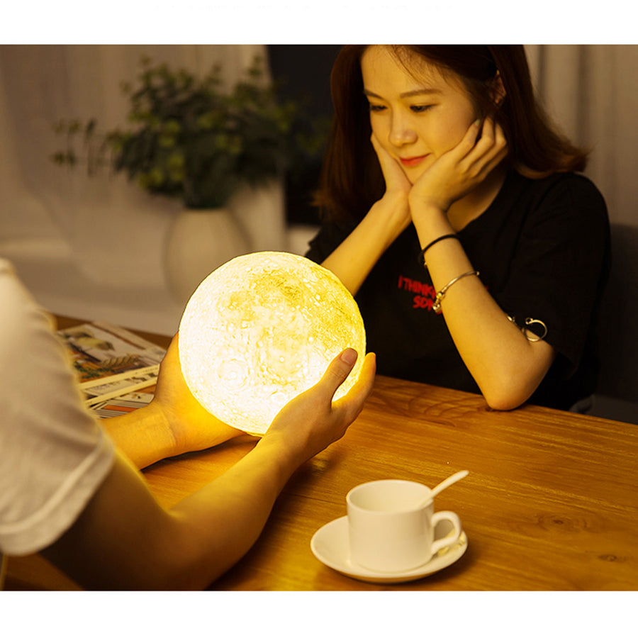 12CM 15CM Rechargeable Moon Light Lamp 2 Color Change Touch Switch Night Light - Venim World Class