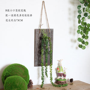Retro Wall Glass Vase Hanging Glass Terrarium Containers Water Plant Flower - Venim World Class
