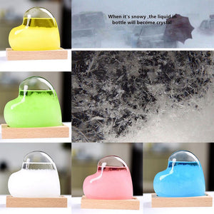 Weather Forecast Colorful Crystal Bottle Storm Glass Decor Xmas Gift With Base - Venim World Class