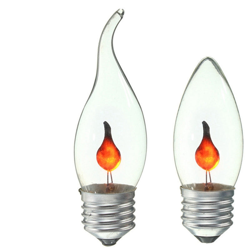 Vintage Edison Style Light Bulb E27 3W Energy Saving Flame Firing Flickering Candle - Venim World Class