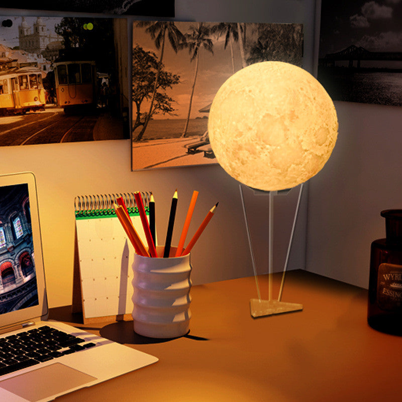Moon Lamp 2 Color Change Touch Switch Night Light Desk Lamp - Venim World Class