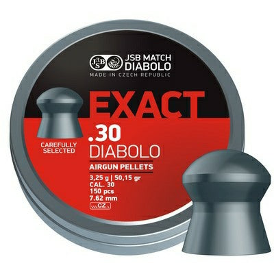 JSB Exact .30 cal Pellets., 50.15 Grains, Domed