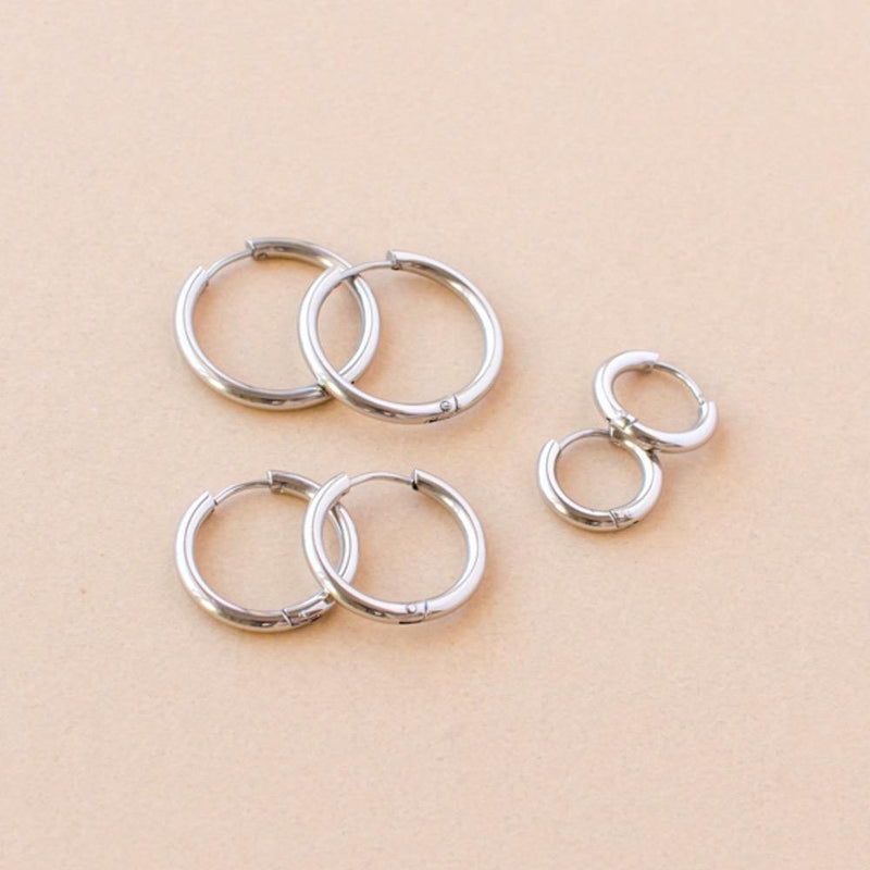 Tatum Silver Hoop Earring | Set of 3