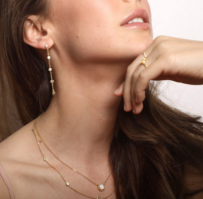 Aerin Chain Drop Earring - Taylor Adorn