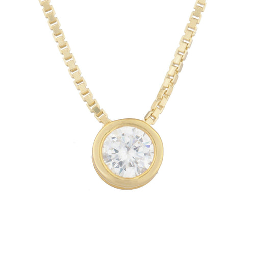 Aerin Solitaire Pendant Necklace - Taylor Adorn