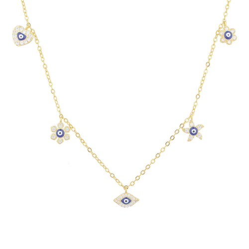 Arienne Pave Charm Necklace - Taylor Adorn