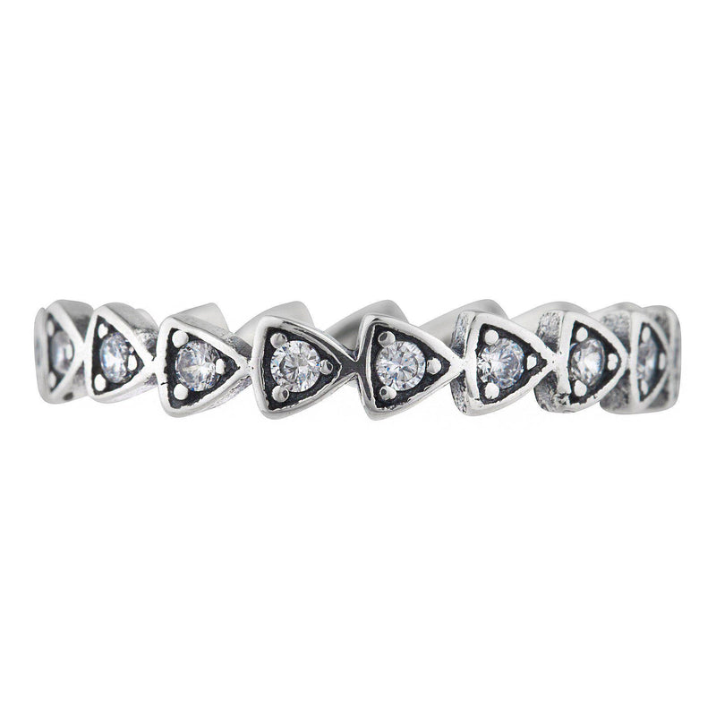 Arrow Pave Band Ring - Taylor Adorn