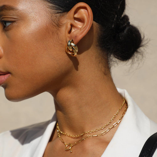 Blair Layered Chain Necklace - Taylor Adorn