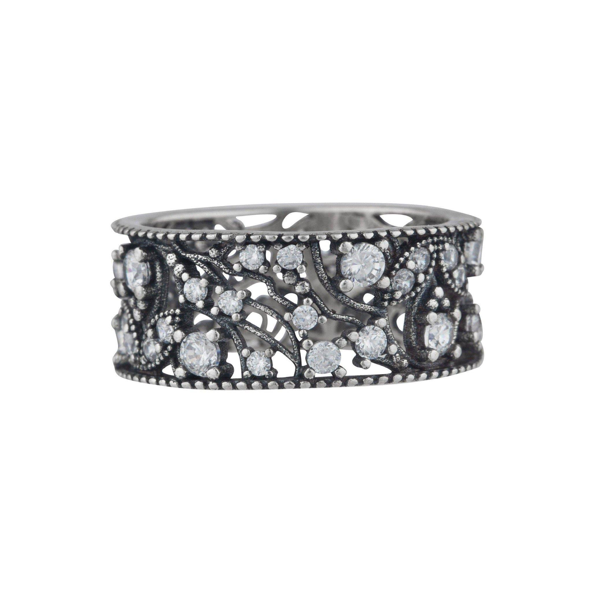 Crystal Cluster Band Ring - Taylor Adorn
