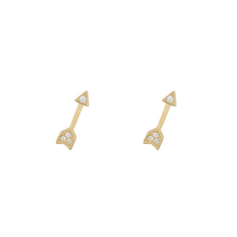 Cupid Pave Stud Earring - Taylor Adorn