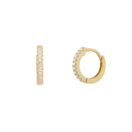 Dailey Pave Huggie Earring - Taylor Adorn