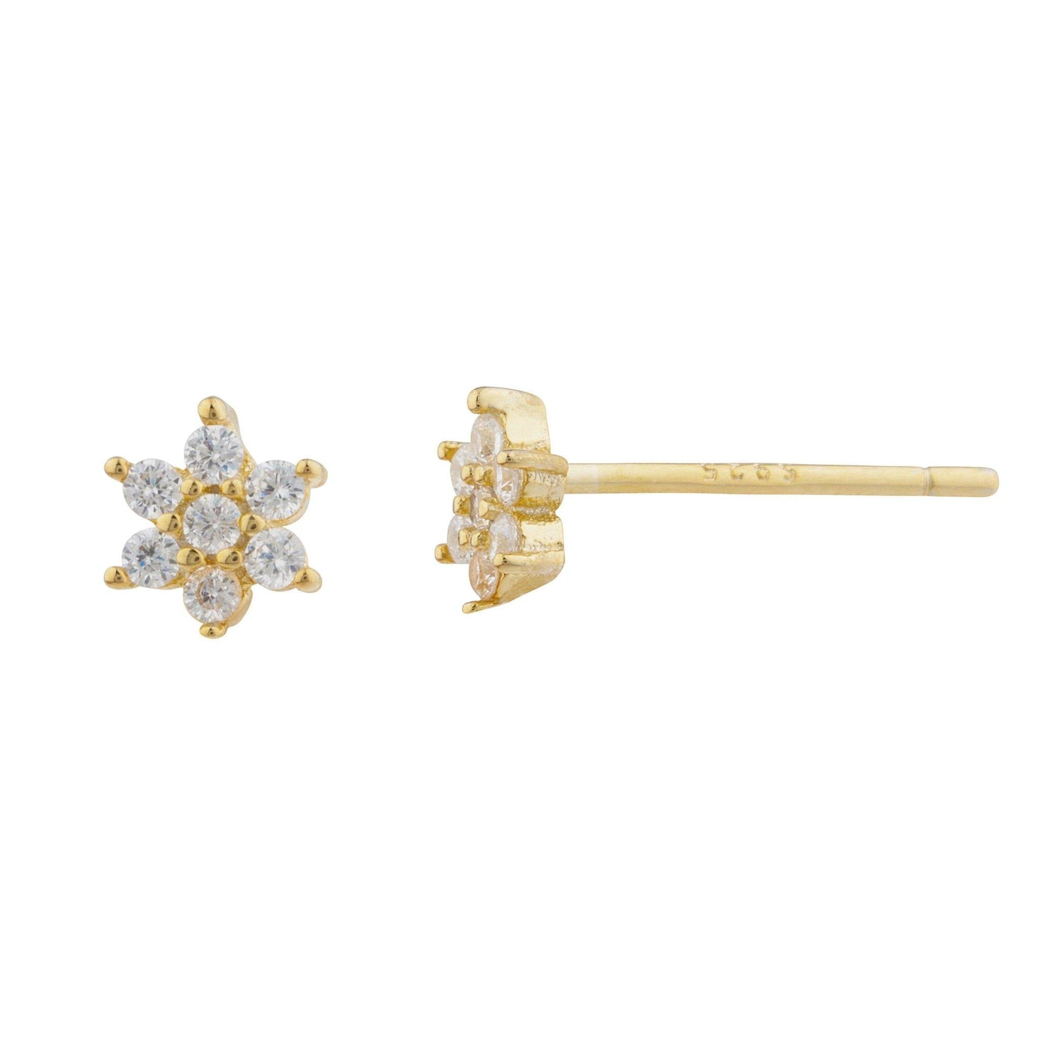 Daisy Pave Stud Earring - Taylor Adorn