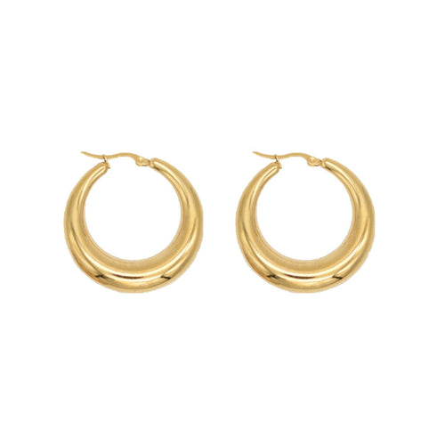Demi 23MM Gold Hoop Earring - Taylor Adorn