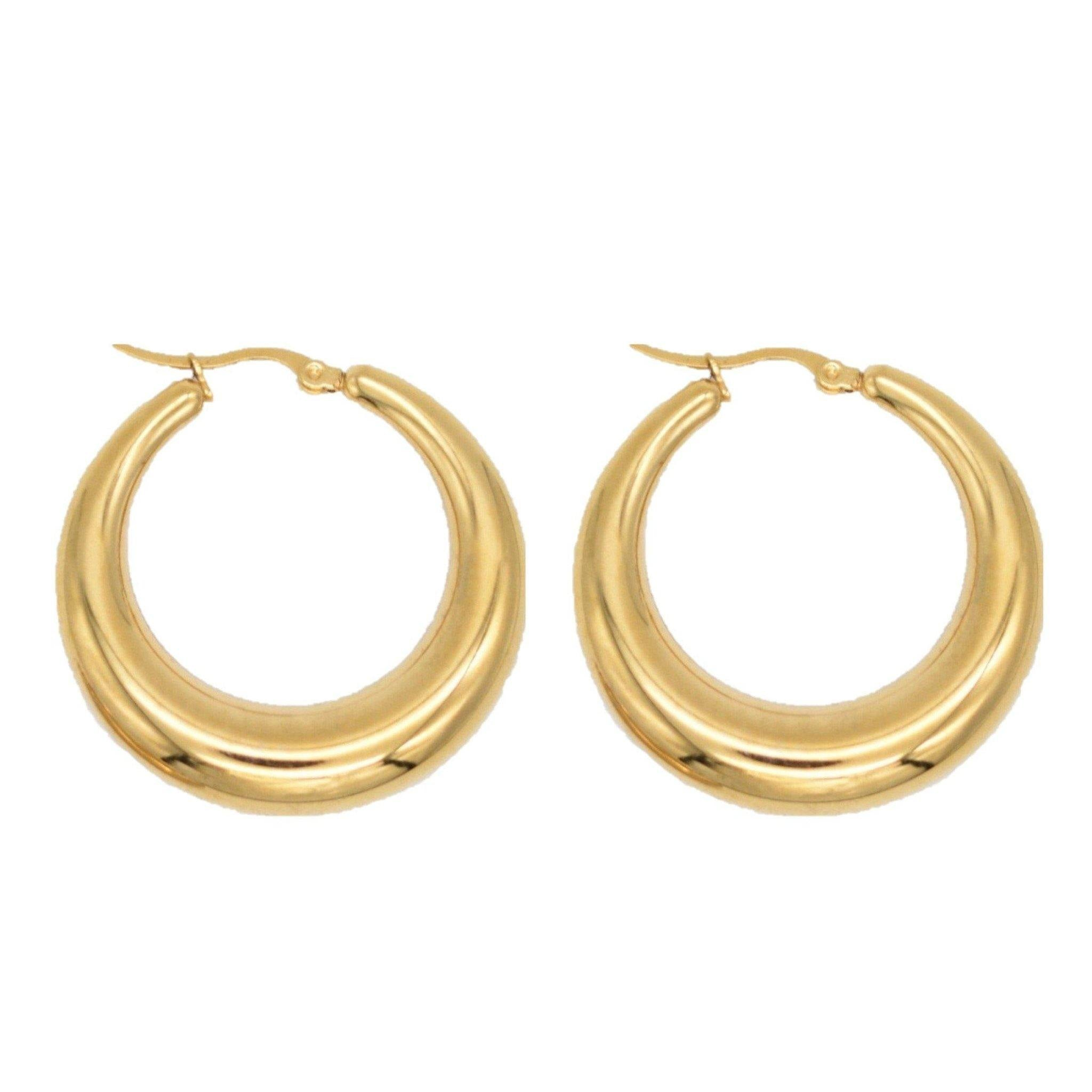 Demi 38MM Gold Hoop Earring - Taylor Adorn